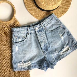 Glassons denim shorts 8 high waist jeans cut offs